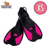 Swim Flippers Short Floating Training Swim Fins for Girls Kids size XS Ankle