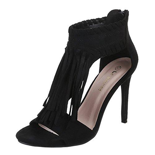 femme Design Ital Design femme Noir Noir Ital Sandales Sandales C5FxSZZ