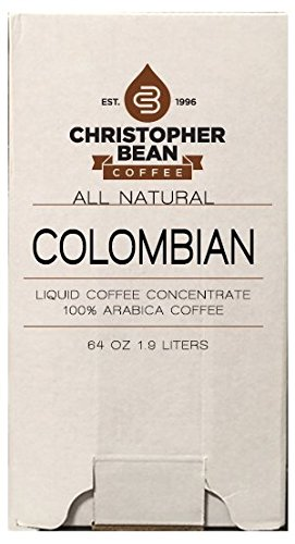 Colombian Cold Brew Or Hot High Yield Liquid Coffee Concentrate 64 Ounce Bag In Box With Shcolle Connector