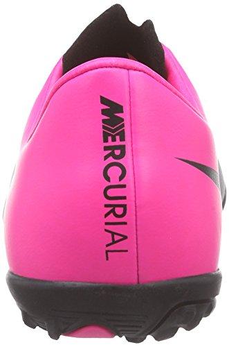 NikeJunior Mercurial Victory V TF - zapatillas de fútbol Niños-Niñas Negro - Schwarz (Black/Black-Hypr Pink-Hypr Pnk)