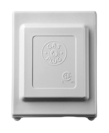 Grey PVC Enclosure Burnaby Manufacturing Ltd G0101-5G G0101-5G Gas Plug Gas Outlet Box with 3//8-Inch Inlet and 3//8-Inch Outlet