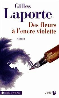 Des fleurs à l'encre violette par Laporte