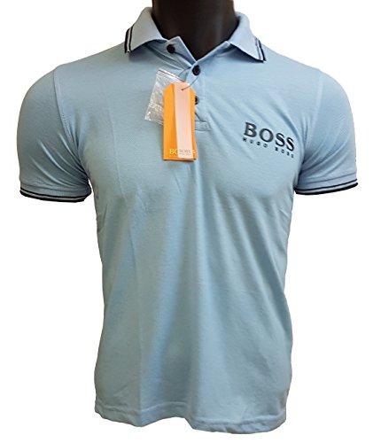 HUGO BOSS Orange Poloshirt Pique / sky - hellblau/ Gr. M / Modell RD0021 - fallen etwas kleiner aus