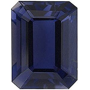 Natural 1.12 Carats 8X6 MM AAA Iolite Emerald-Cut (1 PC) Loose Gemstone