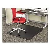 deflecto CM14242BLK SuperMat Frequent Use Chair Mat, Medium Pile Carpet, Beveled, 45 x 53, Black