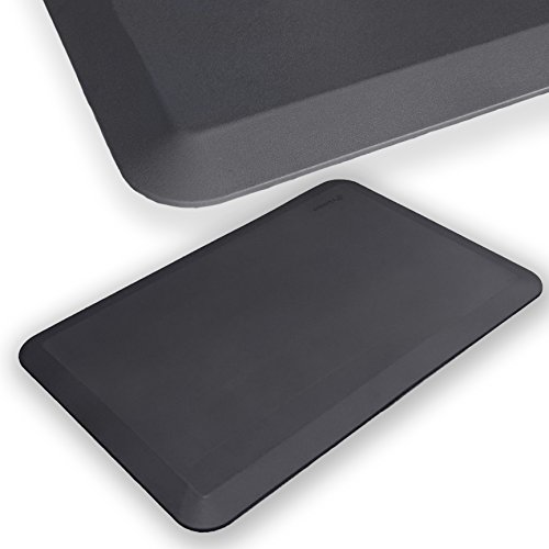 Super Soft - iPrimio 7/8 Thick (Extra Thick and Soft) Anti Fatigue, Beveled Edge, Standing Mat, 30 in by 20 in (30x20). All Purpose. Gray Color.