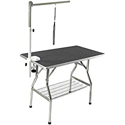"Flying Pig 32"" Small Size Heavy Duty Stainless Steel Frame Foldable Dog Pet Grooming Table (32"" x 21"")"