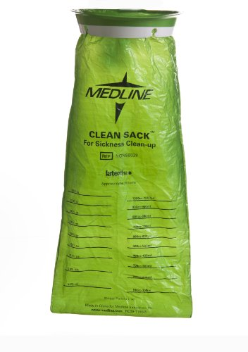 Medline NON80329 Hi-Density Latex Free Emesis Bags (Pack of 144)