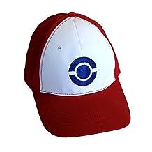 Ash Ketchum Blue Logo Baseball Cap
