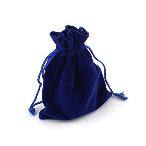 ROSENICE Drawstring Pouch Bag 10pcs 912cm Velvet Wedding Favor Gift Bags(Dark Blue)