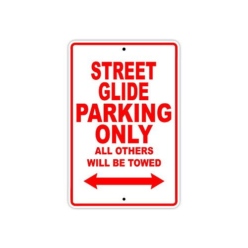HARLEY DAVIDSON STREET GLIDE Parking Only All Others Will Be Towed Motorcycle Bike Novelty Garage Aluminum 8