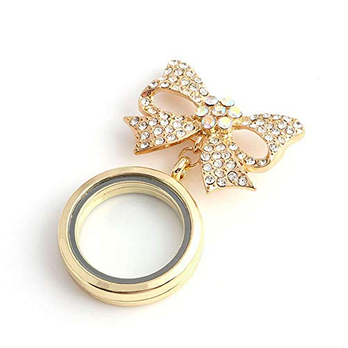 (Rhinestone DIY Brooch Bow Knot Butterfly Knot Photo (Color - Gold))