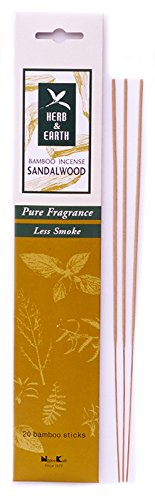 Herb & Earth Bamboo Incense Sandalwood 20 sticks
