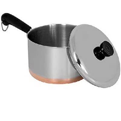 Revere Copper Bottom Covered Saucepan