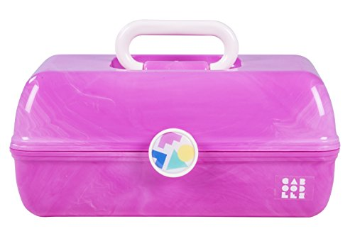 Caboodles On-the-Go Girl Pink Marble Vintage Case, 1 Pound