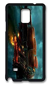 Samsung Galaxy Note 4 Case, Sailing Ship Painting Rugged Case Cover Protector for Samsung Galaxy Note 4 N9100 Polycarbonate Plastics Hard Case Black