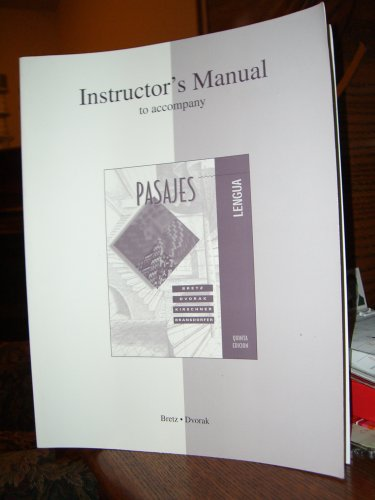 Instructor's Manual to Accompany Pasajes Quinta Edicion