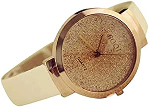 Women's watch, , gold-colored beige belt
