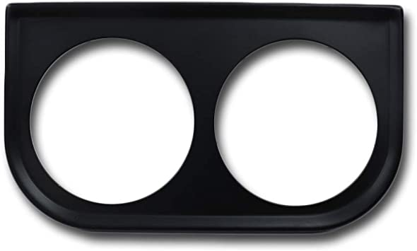 Black Equus 9922 2 Double Gauge Mounting Panel