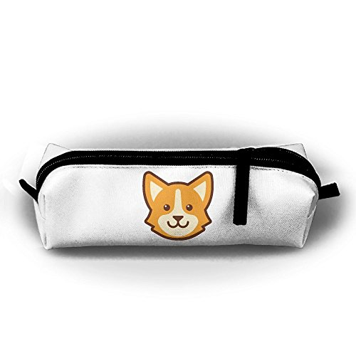 Rfhbjthir Corgi Dog Unisex Stationery Pouch Zipper Cosmetic Bags Cylindrical ()