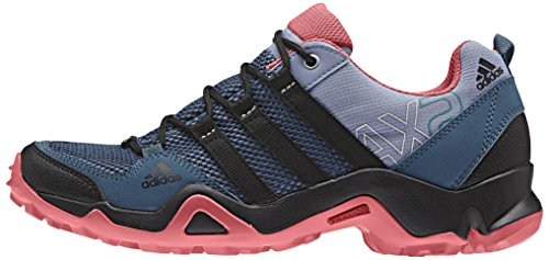 adidas Ax2 W, Zapatillas de Deporte para Mujer, Rosa Azul / Negro / Gris (Azupri / Negbas / Rubsup)