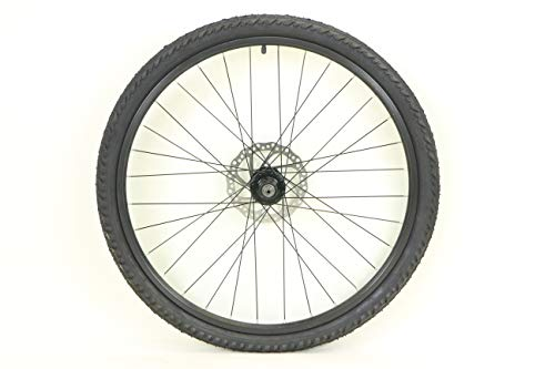 26 inch Alloy Rear Wheel ATB Bike Bicycle for Cassette with Disc Rotor and 26 x 2.0 Kendra Kobra Tire and Tube ()