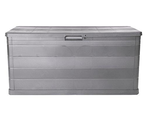 Kissenbox Auflagenbox Gartentruhe Terrassenbox Elegance warmgrau abschließbar