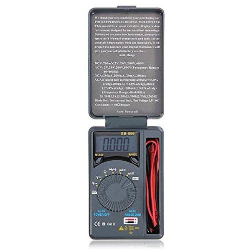 Mini multimetro digital de bolsillo AC / DC de rango auto LCD