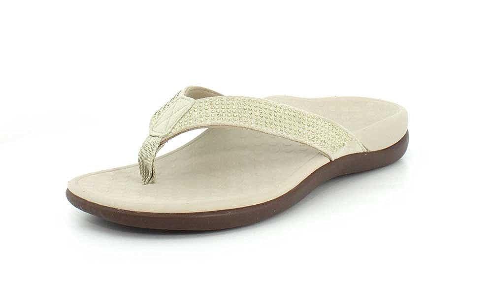 Champagne Women's Vionic, Tide Rhinestones Thong Sandals