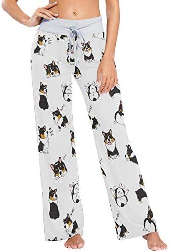 Black Corgi Women's Pajama Pants Lounge Sleep Wear XS-XL