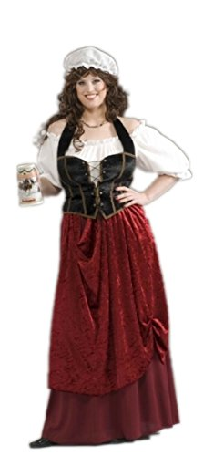 Adult Tavern Wench Plus Size Costume - Renaissance Maiden Size Plus (16-22)