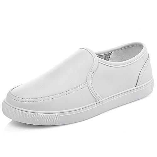 Le Fu, Chaussures à Semelles épaisses De Printemps,Female Coréennes Fond Plat Shoes,Chaussures De Cuir Souple,Chaussures Femme A