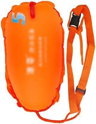13キロについてスイマー/トライアスロン/シュノーケラー、浮力のために泳ぐブイ、ダブル保険バックル/ダブルエアバッグのオープンウォータースイムブイ浮選デバイス、