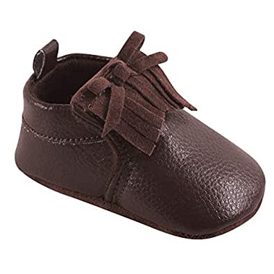Hudson Baby Baby Moccasin Booties, Brown, 0-6 Months Standard Width US Infant