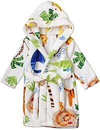 Toddlers/kids Hooded Terry Robe Fleece Bathrobe Children's Pajamas Sleepwear