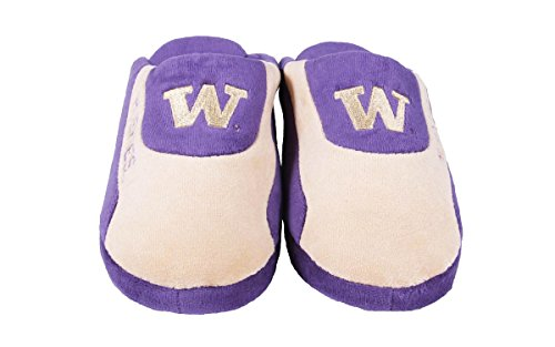Feet Low LICENSED Slippers College Washington NCAA Huskies Pro Mens OFFICIALLY and Womens Happy O8qd8