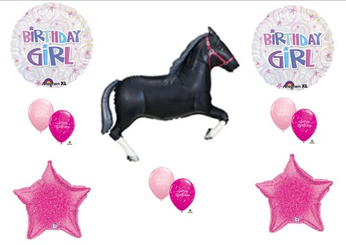 Black Horse COWGIRL Rodeo Western BIRTHDAY GIRL PARTY Balloons Decorations Supplies
