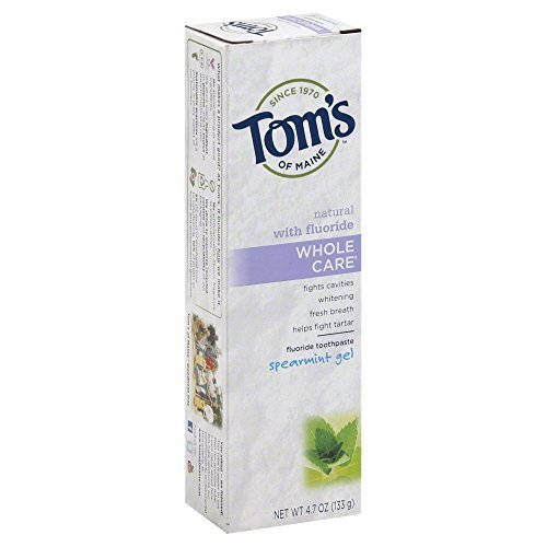 Toms of Maine Whole Care Spearmint Gel Toothpaste, 4.7 Ounce -- 6 per - Whole Care Spearmint Toothpaste