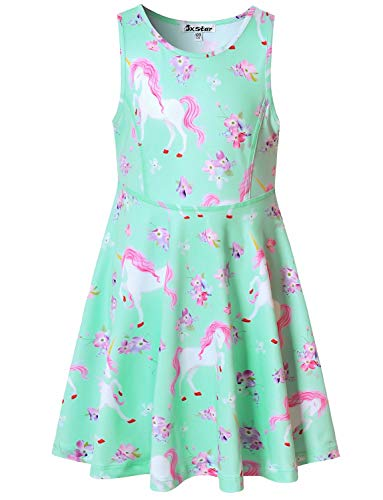 Unicorn Dresses for Girl 10 12 Flower Outfits Summer Sun Sleeveless Beach Dress