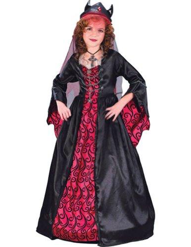 Gothic Devil Female Costumes (Child Bride of Satan Costume - Small (4-6))