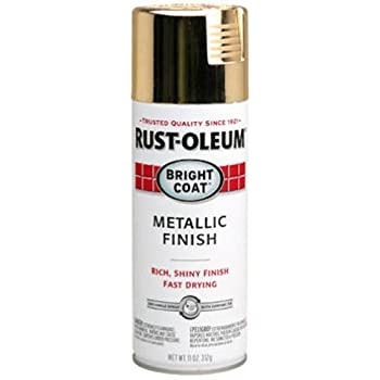 Rust-Oleum 7710830 Bright Coat Metallic Color Spray, Gold, 11-Ounce