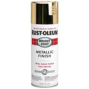 Rust-Oleum 7710830 Bright Coat Metallic Color Spray, Gold, 11-Ounce