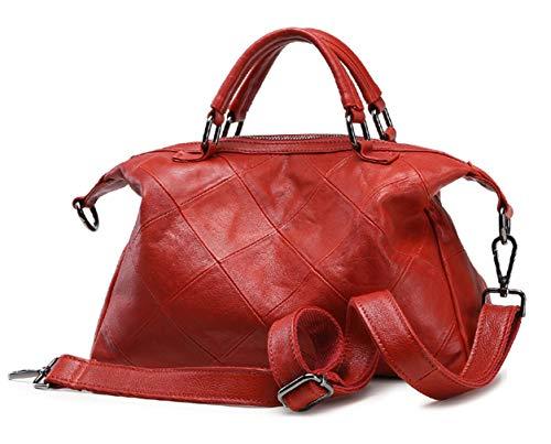 Tracolle Vera Borse Rosso Nero Nuovo Saierlong Pelle Donna qFtB0wY