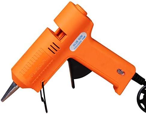 ミニ15Wホットメルト接着ガン、PTCサーミスタ、自動恒温、ヒーターグルーガン修復ツール (Color : Orange)