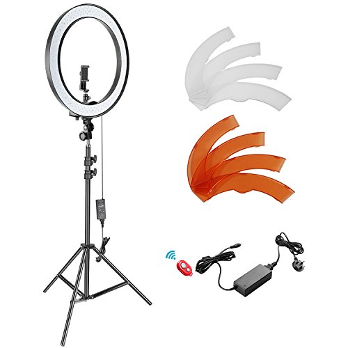 Neewer 18-inch Outer Dimmable SMD LED Ring Light Kit with 78.7 inches Light...