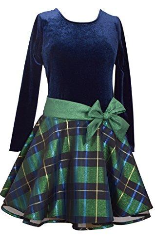 6x Girls Velvet Dress - 6