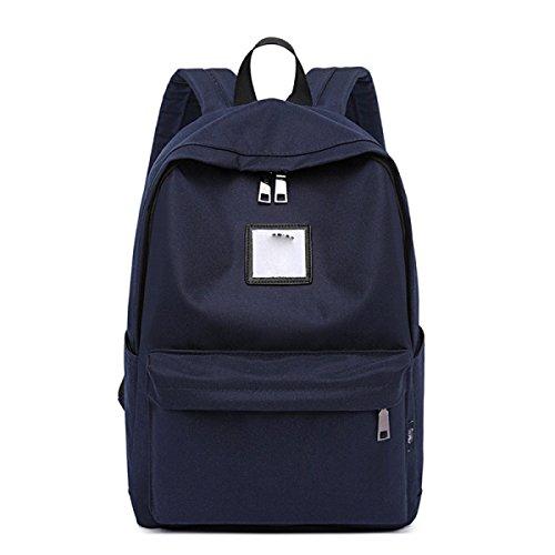 Student Pack Einfache Computertasche Großer Kapazitätsrucksack,Gray DarkBlue