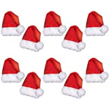 Kitchen & Housewares : Beistle 22269, 10 Piece Mini Santa Hat Paper Cutouts, 5""