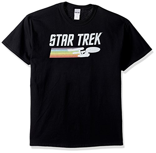 Classic Logo Black Tee - Star Trek Men's Classic Logo T-Shirt, Black, 4XL