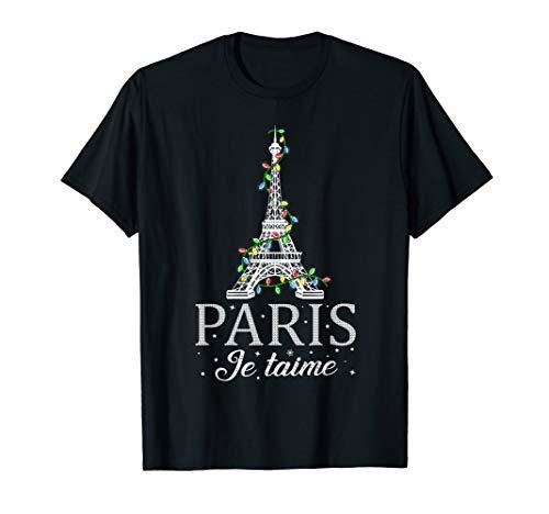 Retro Paris Je Taime Eiffel Tower Decorating Christmas  T-Shirt
